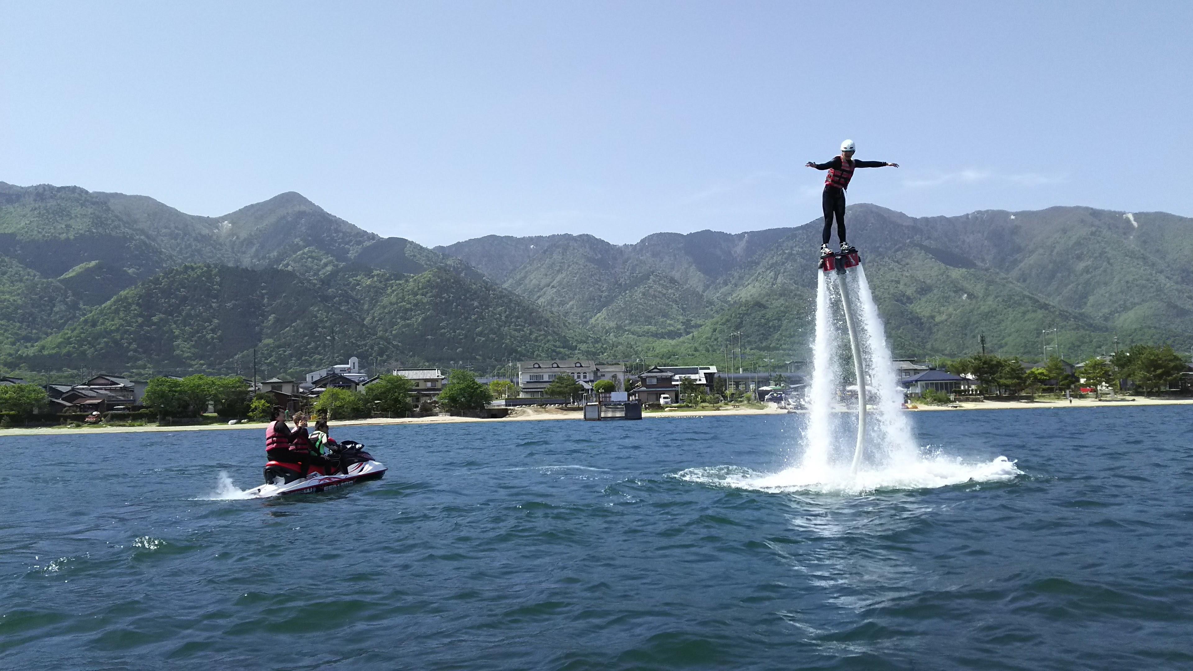 フライボード体験(白ひげ浜水泳・キャンプ場)